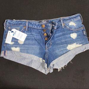 NWT Silver Midrise Jean Shorts